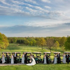 Slade manzo bridal party golf cart pictures
